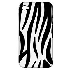 Seamless Zebra A Completely Zebra Skin Background Pattern Apple Iphone 4/4s Hardshell Case (pc+silicone) by Amaryn4rt