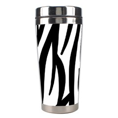 Seamless Zebra A Completely Zebra Skin Background Pattern Stainless Steel Travel Tumblers by Amaryn4rt