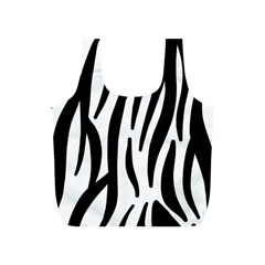 Seamless Zebra A Completely Zebra Skin Background Pattern Full Print Recycle Bags (s)  by Amaryn4rt