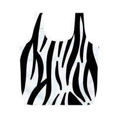 Seamless Zebra A Completely Zebra Skin Background Pattern Full Print Recycle Bags (m)  by Amaryn4rt