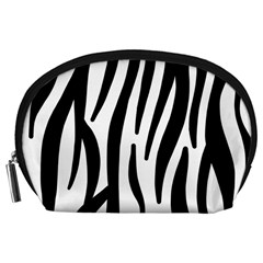 Seamless Zebra A Completely Zebra Skin Background Pattern Accessory Pouches (large)  by Amaryn4rt