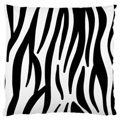 Seamless Zebra A Completely Zebra Skin Background Pattern Large Flano Cushion Case (one Side) by Amaryn4rt