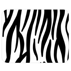 Seamless Zebra A Completely Zebra Skin Background Pattern Double Sided Flano Blanket (medium)  by Amaryn4rt