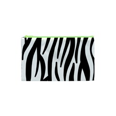 Seamless Zebra A Completely Zebra Skin Background Pattern Cosmetic Bag (xs) by Amaryn4rt