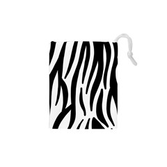Seamless Zebra A Completely Zebra Skin Background Pattern Drawstring Pouches (xs)  by Amaryn4rt