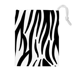Seamless Zebra A Completely Zebra Skin Background Pattern Drawstring Pouches (extra Large) by Amaryn4rt