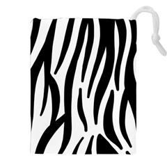 Seamless Zebra A Completely Zebra Skin Background Pattern Drawstring Pouches (xxl) by Amaryn4rt