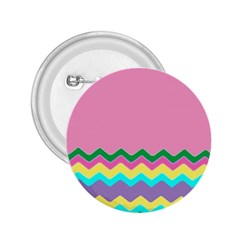 Easter Chevron Pattern Stripes 2.25  Buttons