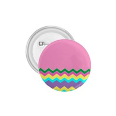 Easter Chevron Pattern Stripes 1.75  Buttons