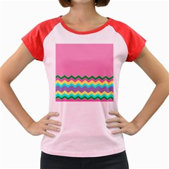 Easter Chevron Pattern Stripes Women s Cap Sleeve T Shirt by Amaryn4rt
