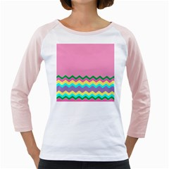 Easter Chevron Pattern Stripes Girly Raglans