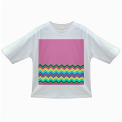 Easter Chevron Pattern Stripes Infant/Toddler T-Shirts