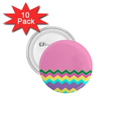 Easter Chevron Pattern Stripes 1.75  Buttons (10 pack)