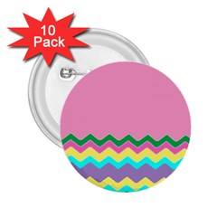 Easter Chevron Pattern Stripes 2.25  Buttons (10 pack)
