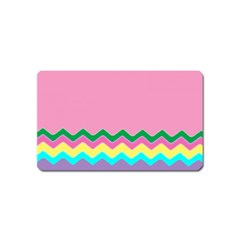 Easter Chevron Pattern Stripes Magnet (Name Card)