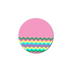 Easter Chevron Pattern Stripes Golf Ball Marker (4 pack)