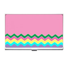 Easter Chevron Pattern Stripes Business Card Holders