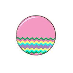 Easter Chevron Pattern Stripes Hat Clip Ball Marker (4 pack)