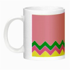 Easter Chevron Pattern Stripes Night Luminous Mugs