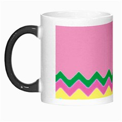 Easter Chevron Pattern Stripes Morph Mugs