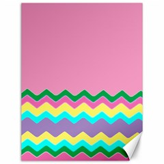 Easter Chevron Pattern Stripes Canvas 12  x 16