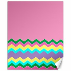 Easter Chevron Pattern Stripes Canvas 16  x 20