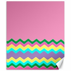 Easter Chevron Pattern Stripes Canvas 20  x 24