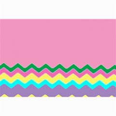 Easter Chevron Pattern Stripes Canvas 24  x 36