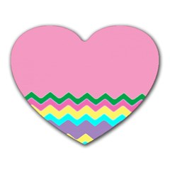 Easter Chevron Pattern Stripes Heart Mousepads