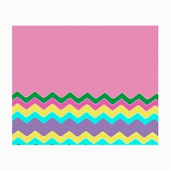 Easter Chevron Pattern Stripes Small Glasses Cloth (2-Side)