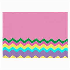 Easter Chevron Pattern Stripes Large Glasses Cloth