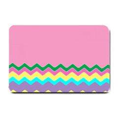 Easter Chevron Pattern Stripes Small Doormat