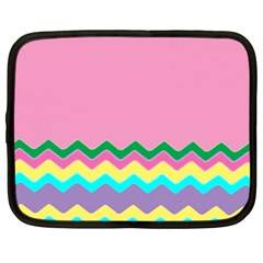Easter Chevron Pattern Stripes Netbook Case (Large)