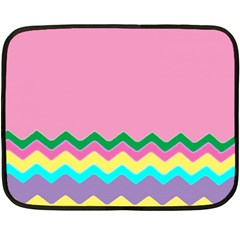 Easter Chevron Pattern Stripes Fleece Blanket (Mini)