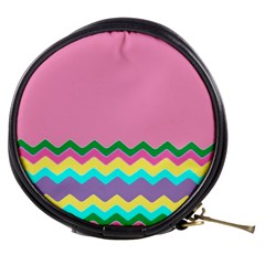 Easter Chevron Pattern Stripes Mini Makeup Bags