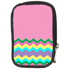 Easter Chevron Pattern Stripes Compact Camera Cases