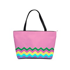 Easter Chevron Pattern Stripes Shoulder Handbags