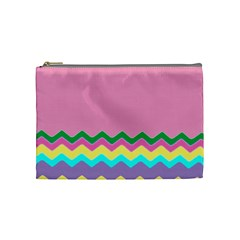 Easter Chevron Pattern Stripes Cosmetic Bag (Medium)