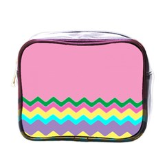 Easter Chevron Pattern Stripes Mini Toiletries Bags