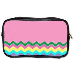 Easter Chevron Pattern Stripes Toiletries Bags 2-Side