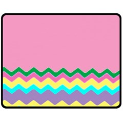 Easter Chevron Pattern Stripes Fleece Blanket (Medium)