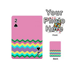 Easter Chevron Pattern Stripes Playing Cards 54 (mini)  by Amaryn4rt
