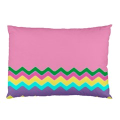 Easter Chevron Pattern Stripes Pillow Case (Two Sides)