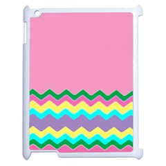 Easter Chevron Pattern Stripes Apple iPad 2 Case (White)