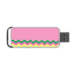 Easter Chevron Pattern Stripes Portable Usb Flash (two Sides) by Amaryn4rt