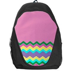 Easter Chevron Pattern Stripes Backpack Bag
