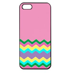 Easter Chevron Pattern Stripes Apple iPhone 5 Seamless Case (Black)