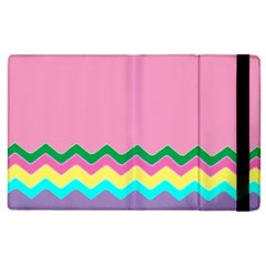 Easter Chevron Pattern Stripes Apple iPad 2 Flip Case