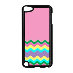 Easter Chevron Pattern Stripes Apple iPod Touch 5 Case (Black)