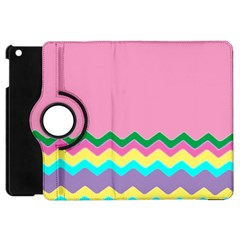 Easter Chevron Pattern Stripes Apple iPad Mini Flip 360 Case